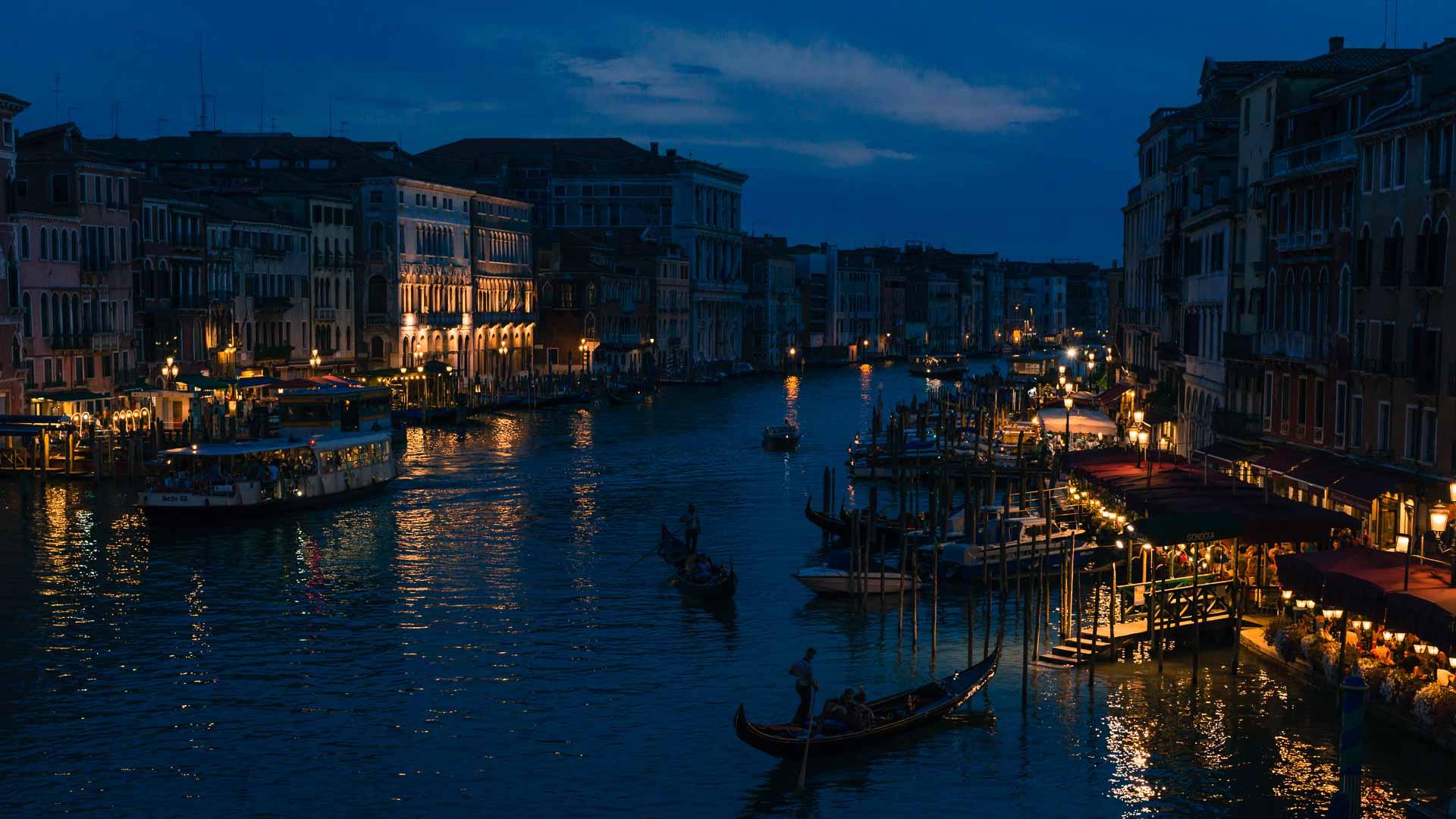 Venice view from Rialto bridge
